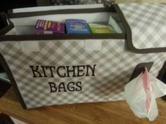 Thirty-One Gifts - Use our new Pack N' Pull Caddy $30 to store your kitchen bags! Join my FB group, just click the pic.