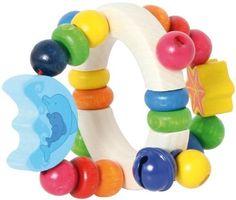 Babyspielzeug 0-6 Monate Rassel Motorikrassel Holz