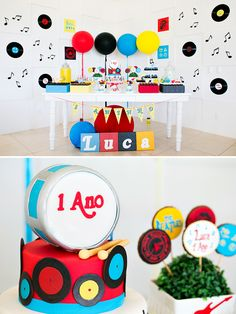 Bright & Classic Rock n Roll First Birthday Party