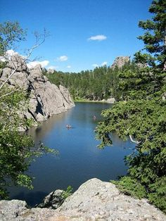 Sylvan Lake at Custer State Park. One of our favorite spots in South Dakota! Read about top lodging in Custer State Park and other Midwest states: http://www.midwestliving.com/travel/around-the-region/ultimate-midwest-resorts/