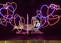 Um there's a deer and hearts, how could I not love this store window? Sofia Coppola's Le Bon Marche Louis Vuitton Windows :: Harper's BAZAAR