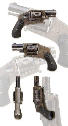 .320 BELGIUM, 5 SHOT BULLDOG HAMMERLESS POCKET REVOLVER - Sold   ROA Antique…