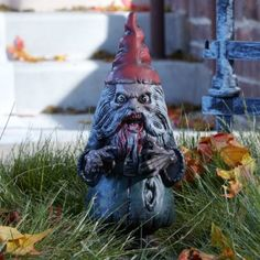 I love this one!!!  :)    Amazon.com: Zombie Garden Gnome (Silver/Red): Home & Kitchen