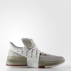 88a2ed77cf8 Adidas Dame 3 West Campus Shoes (Pearl Grey   Cardinal) Adidas Dame