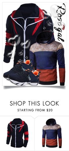 """""""Rosegal 45."""" by belma-cibric ❤ liked on Polyvore featuring Valentino, men's fashion, menswear, shirt, coat, man and rosegal"""