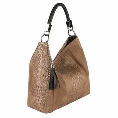 Schenke Deinem Look eine wilde Note mit dieser eleganten Tasche in Kroko-Optik. Der Shopper bietet großzügigen Stauraum im extravaganten Look. Size/Größe in ca.: 36x34x14 cm (BxHxT) Material: Wildleder Innen: Textil Tragbarkeit: Schultertasche, Handtasche, Henkeltasche als Arbeitstasche oder auch zum shoppen geeignet. Henkel ca. 45 cm Lang Besonderheit: das Hauptfach wird durch eine RV-Tasche in der Mitte geteilt, damit schafft jeder Frau die Ordnung in der Tasche Beschreibung: - großes… Shopper Tote, Tote Bag, Bucket Bag, Taupe, Italy, How To Make, Bags, Watch, Products