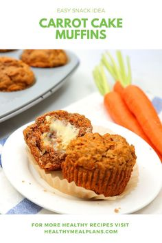 These make-ahead muffins are a great on-the-go breakfast option and also make a satisfying afternoon snack. They're soft, chewy, and have the perfect blend of classic carrot cake spice making them an irresistible treat. Carrot Spice Cake, Carrot Cake Muffins, Breakfast Options, Breakfast Recipes, Clean Eating Challenge, Bread Mix, Oatmeal Muffins, Dessert Bread, Crusts