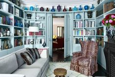 Tour a Fashion Designer's Stylish Pied-à-Terre in Paris Home Renovation, Purple Accent Walls, Blue Walls, Paris Home, Bonus Rooms, Fashion Designer, Paris Apartments, Ship Lap Walls, Step Inside