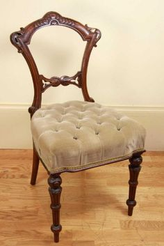 A Victorian Mahogany Dining Chair, Circa 1850, The Balloon Back Chair With  Carved Knot