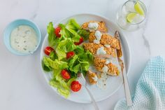 This Almond-Crusted Chicken Breast recipe will have your mouth watering as you peer through the oven. Luckily it'll be ready to devour in only half an hour! :) Ingredients (makes 2 serves): 2 chicken breasts2 tbsp cornflour2 large eggs50g flaked almonds, roughly chopped30g Panko breadcrumbs2 tsp Cajun seasoning Lime & Yoghurt Dressing:200g low-fat plain yoghurtJuice and zest of 1 lime1 tbsp freshly chopped mintSalt and ground black pepper, to taste  Method: 1. To make the dressing, whisk...
