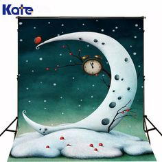 Find More Background Information about Kate Digital Photography Backdrops Christmas The Moon Bird Alarm Clock  5x7ft(1.5x2.2m) Photo backdrops for Children,High Quality digital photography backdrops,China photography backdrops Suppliers, Cheap photo backdrops from Art photography Background on Aliexpress.com