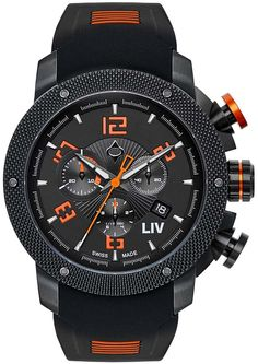 LIV Watches Genesis X1 Classic Watch - Grey with Silicone Band