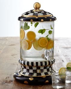 Courtly Check Beverage Dispenser by MacKenzie-Childs at Horchow.