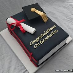 Graduation day is a very special day in everyone's life and the person wants to enjoy this occasion the most. Personalized Graduation Cakes for Boys and Girls. College Graduation Cakes, Graduation Party Decor, High School Graduation, Grad Parties, Graduation Gifts For Boys, Graduation Celebration, Library Cake, Pastel Cakes, Traditional Cakes