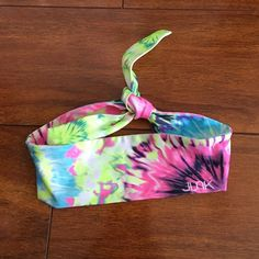 Junk Brands Neon Tie-Dye Tie Headband Gently worn condition.  Comes from a smoke-free, but not pet-free home. ➡️ Offers welcomed.  No trades. No holds.  Fast shipping! Junk Brands Accessories Hair Accessories