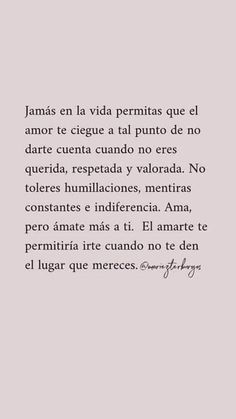 Positive Phrases, Motivational Phrases, Positive Quotes, Spanish Inspirational Quotes, Spanish Quotes, Amor Quotes, Words Quotes, Pretty Quotes, Cute Quotes