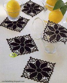 Small Crochet Doilies - Square Crochet Motif