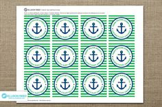 Nautical Baby Shower Favor Tag  Anchor  Printable by EllisonReed, $9.00
