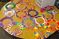 Kinder Kraziness: Thematic Thursdays with a Thanksgiving Twist Use paint for border Thanksgiving Art, Thanksgiving Preschool, Thanksgiving Crafts For Kids, Fall Crafts, Holiday Crafts, Fall Preschool, Toddler Preschool, November Crafts, Classroom Crafts