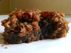 Gooey Chickpea Brownies.  Sounds so strange but is worth a try.