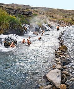 A Relaxing Spa Vacations - Boiling River Yellowstone National Park