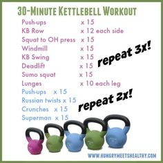 I always forget how much I love kettlebells. There are tons of exercises you can do with them to...