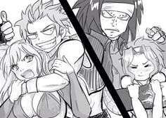 The two dragons and their mates!!! >~< ||NaLu & GaLe|| #Fairy Tail