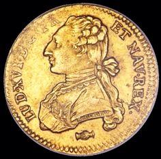 Moneda con el perfil de Luis XVI