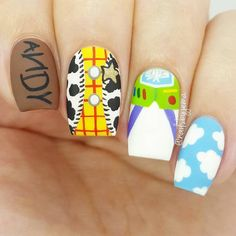 Give style to your nails with nail art designs. Worn by fashion-forward stars, these nail designs will incorporate instant glamour to your wardrobe. Cute Acrylic Nails, Cute Nail Art, Cute Nails, Disney Acrylic Nails, Beautiful Nail Designs, Cute Nail Designs, Toy Story Nails, Disney Inspired Nails, Disney Nail Designs