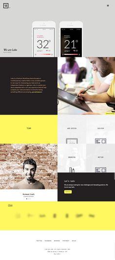 Lobo, a portfolio WordPress theme for freelancers and creative agencies.