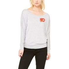 Philadelphia Flyers Let Loose by RNL Women's Winning Off-Shoulder Long Sleeve T-Shirt - Heathered Gray - $39.99