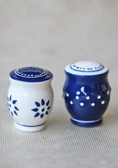 for the cook: $14.99 Indigo Ceramic Salt And Pepper Shakers #shopruche #ruche