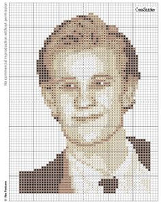 Matt Smith Dr Who stitch a star pattern