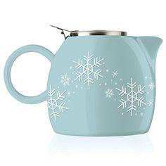 Tea Forte Pugg Ceramic Teapot - Snowflake. #Teapot #Collectible #Decor #Gift #gosstudio .★ We recommend Gift Shop: http://www.zazzle.com/vintagestylestudio ★