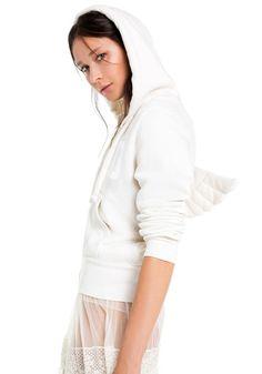 wildfox angel wing hoodie