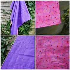 Quilted Flannel Baby Blanket - NO PIECING, NO BATTING - RECEIVING BLANKET WEIGHT - COULD USE A REALLY CUTE PRINT