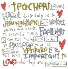 teacher's prayer by jordan