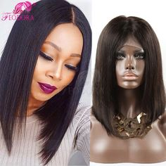 92.66$  Buy here - http://ali1kv.worldwells.pw/go.php?t=32778483333 - Peruvin Human Hair Lace Front Wigs Human Hair 100% Human Hair Full Lace Wigs Stocked Natural Hair Line For Black Women Hot Sale