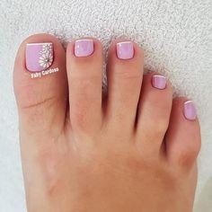 39 Fotos de Unhas com Flores Pedicure Designs, Manicure E Pedicure, Toe Nail Designs, Pedicure Ideas, Pretty Toe Nails, Pretty Toes, Sparkle Nails, Toe Nail Art, Nail Tech