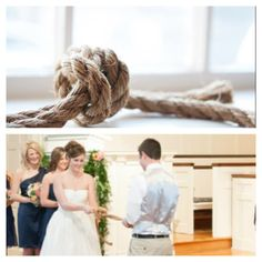 Unique wedding idea. tie a know instead of the unity candle