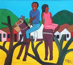 Waldomiro de Deus, Saindo da Vila, Óleo sobre tela, 65x71 cm (1983)