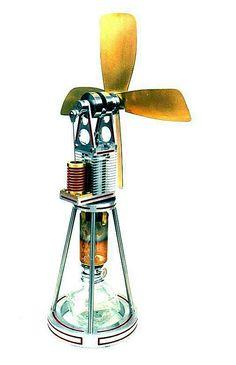 Desk top Stirling engine fan