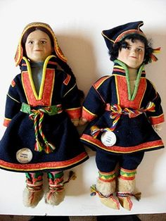 Vintage Lapland Boy Girl Turku Finland Martha Martta Cloth Doll s Lappalainen | eBay