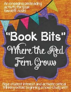 """""""Book Bits"""": a Fun Pre-reading Activity for Where the Red"""