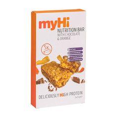 myHi Nutrition Cereal Bar Chocolate & Orange Flavour