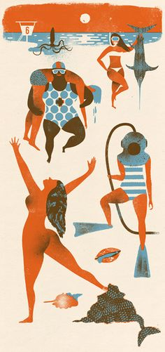 by Doris Freigofas and Daniel Dolz Editorial Illustration, Character Illustration, Graphic Design Illustration, Graphic Art, Luba Lukova, Guache, Design Graphique, You Draw, Art Plastique