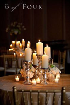 Light Up Your Wedding With This Wonderful Candlestick Centerpieces