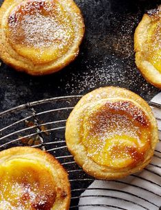 Try our classic Portuguese custard tart recipe. This Pastéis de Nata recipe has an easy step-by-step guide to make the best custard tarts for pastel de nata Portuguese Custard Tart Recipe, Portuguese Tarts, Portuguese Recipes, Portuguese Food, Tart Recipes, Baking Recipes, Sweet Recipes, Natas Recipe, Egg Tart