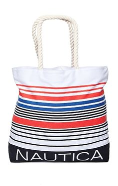 @Verge Creative made this Multi Stripe (Red, White, Blue) Canvas Bag for our friends at @Nautica Wager.