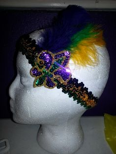 mardi gras headband by HollieesCreations on Etsy, $13.00